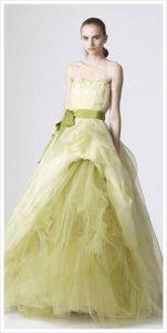 Vera-Wang-green-wedding-gown