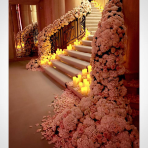 Over The Top Staircase Decor Sonal J Shah Event Consultants Llc