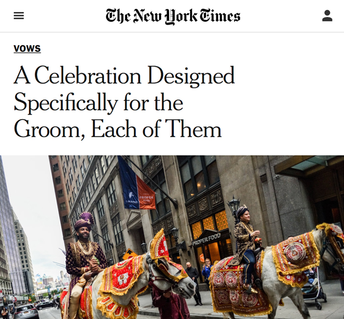 The New York Times - Amit & Martin's Wedding