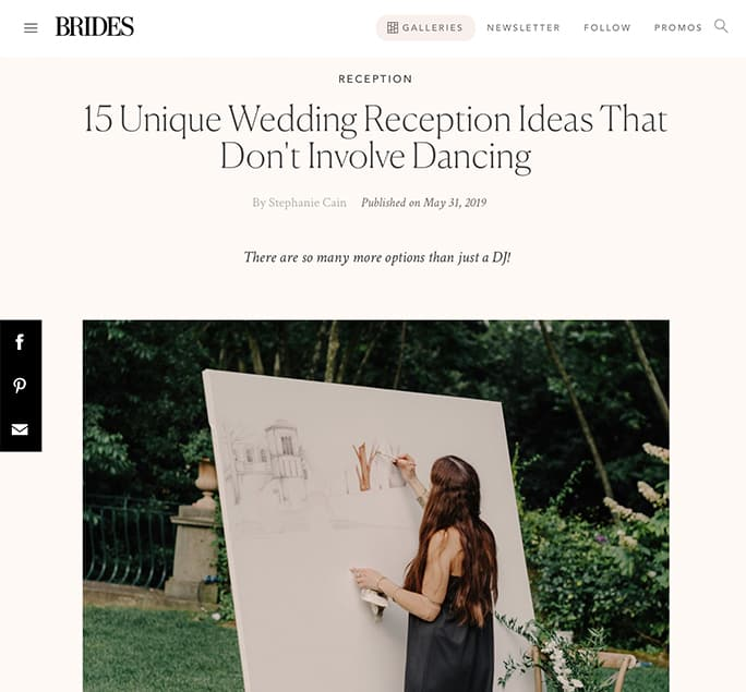 BRIDES - 15 Unique Wedding Reception Ideas That Don't Involve Dancing