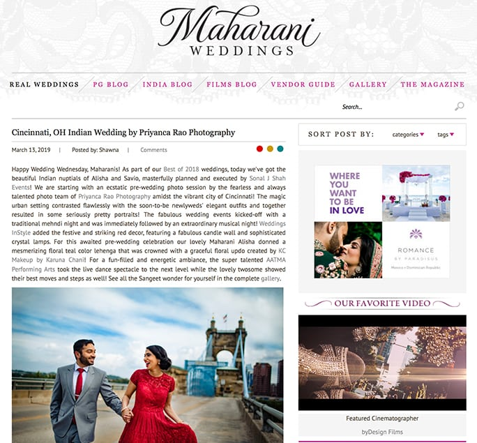 Maharani Weddings - Alisha and Savio