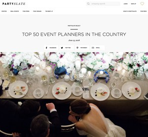 partyslate top 50 event planners