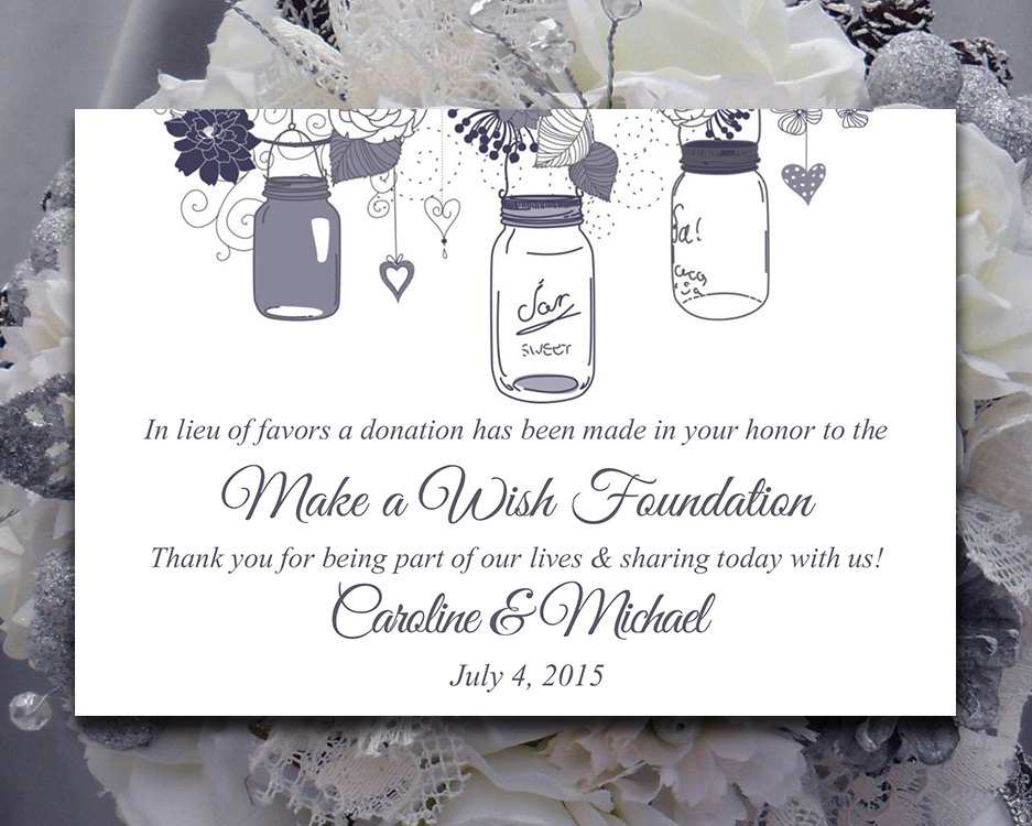Donations In Lieu of Wedding Favors - Sonal J. Shah Event ...