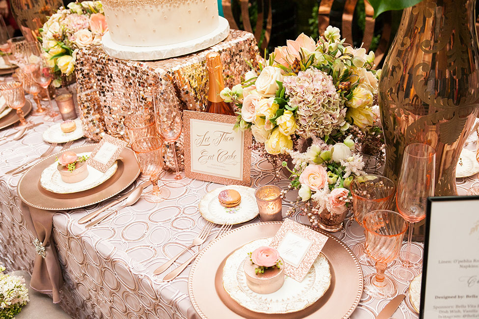Rose Gold Wedding Ideas For Ceremony Reception Décor: Rose Gold Wedding Reception Decor
