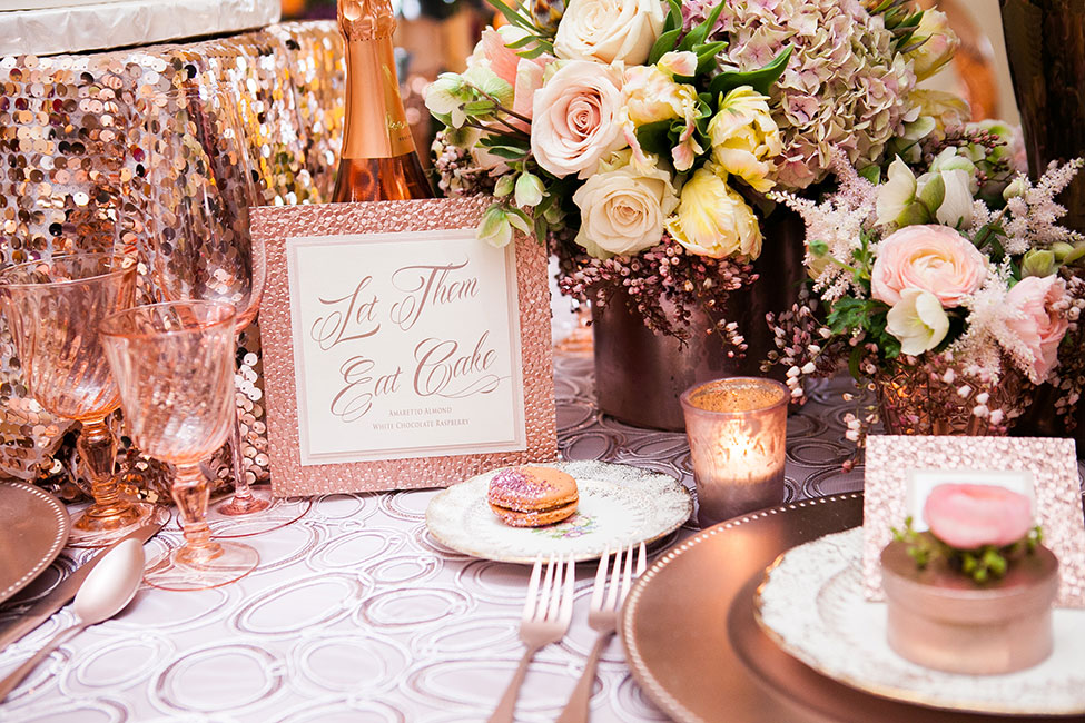 We Are Obsessed With Rose Gold Not Only Is It Cly Glamorous But Also Super Elegant Recently Did An Amazing Mood Board For One Of Our Brides And