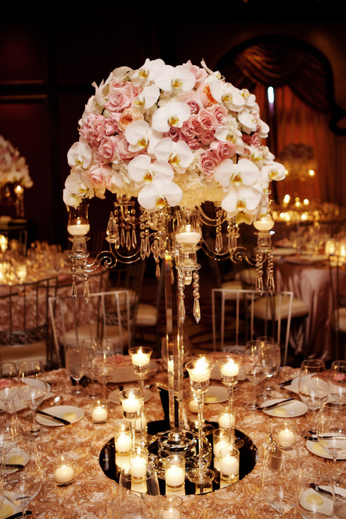 Rose Gold Wedding Reception Decor - Sonal J. Shah Event ...