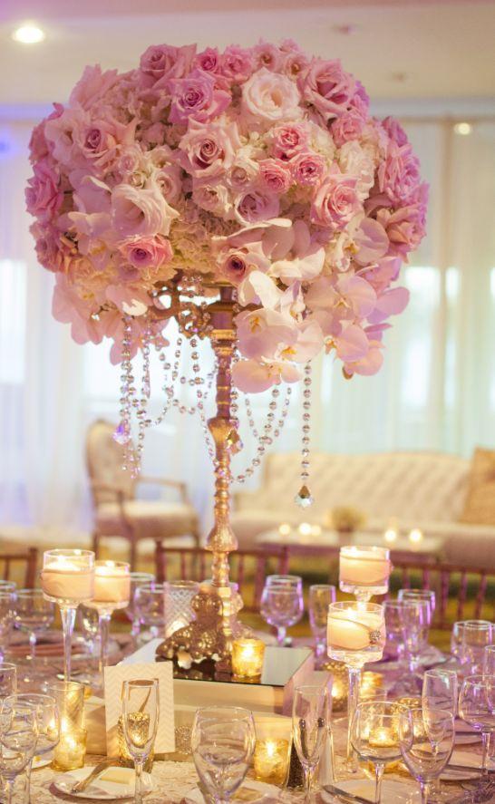 Rose Gold Wedding Reception Decor - Sonal J. Shah Event Consultants ...