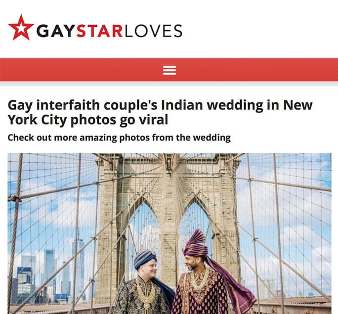 Gay Star News - Martin and Amit, a same-sex couple