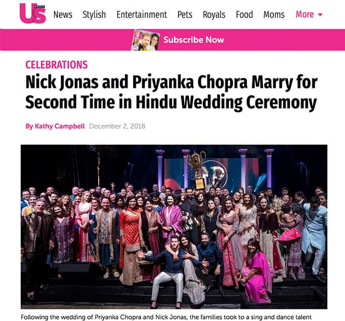 US Magazine Nick Jonas and Priyanka Chopra