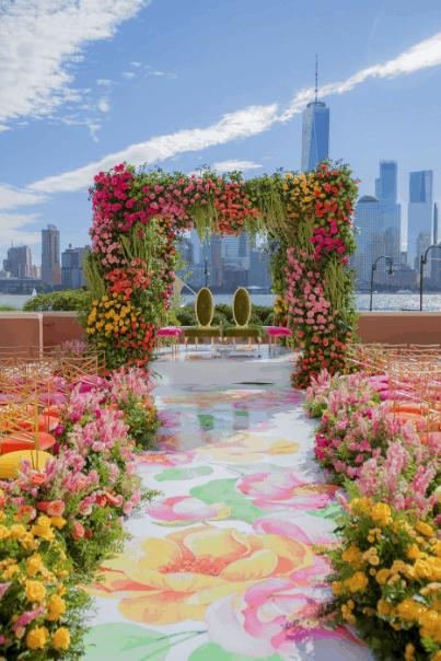 Hyatt House Rooftop in Jersey City on Ombrey Florals